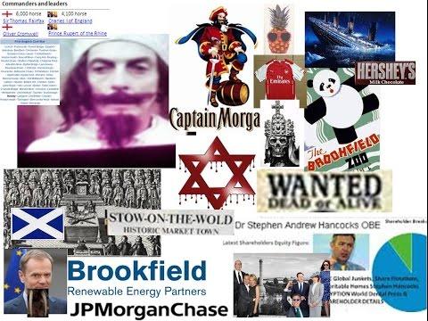 JP MORGAN 2 Pirates of the Caribean Charles I beheadedTitanic Sunk STOW sacked & Brookfield Lord Naz