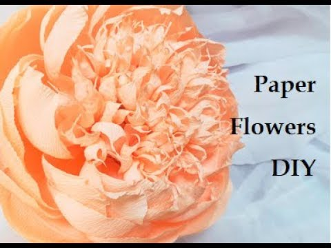 Giant crepe paper flowers. Crepe paper peony. DIY wedding decorations. Home decor.  Handcraft