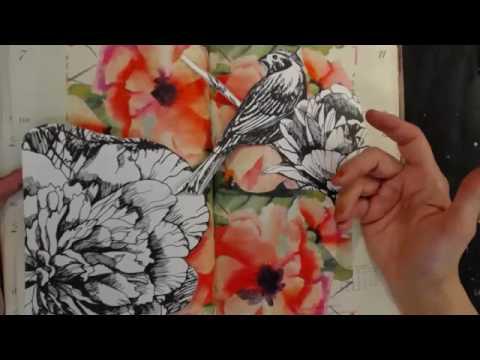 Mixed Media Napkin Art Journal