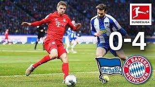 Hertha Berlin vs. FC Bayern | 0-4 | Lewandowski, Thiago, Müller & Perisic Score
