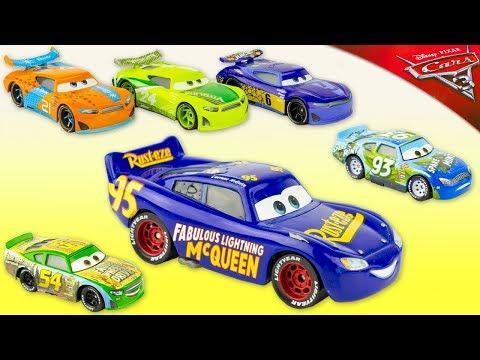 6 Voitures de Course Cars 3 Fabulous Lightning McQueen Flash Diecast Piston Cup Jouet Toy Review