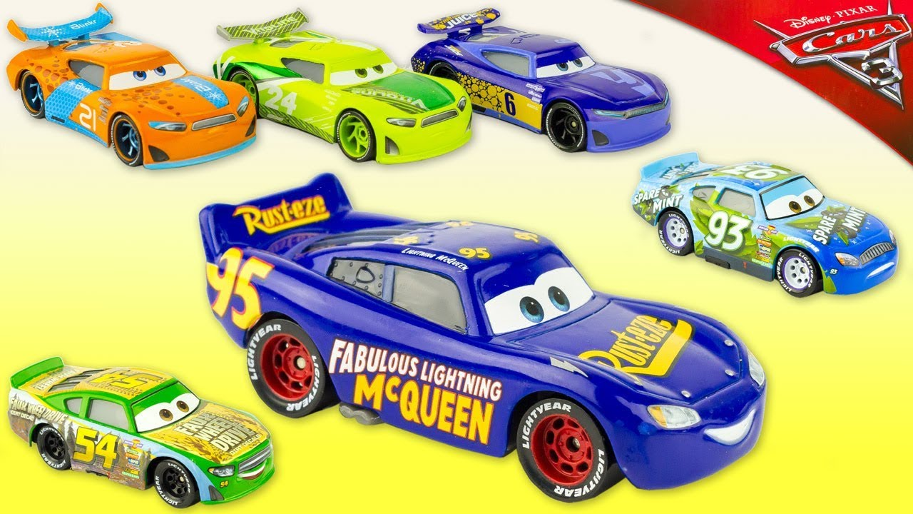 6 voitures de course cars 3 fabulous lightning mcqueen. Black Bedroom Furniture Sets. Home Design Ideas
