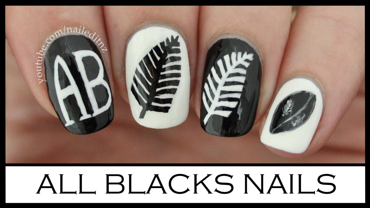 All Blacks Nail Art Rugby World Cup 2015 Youtube