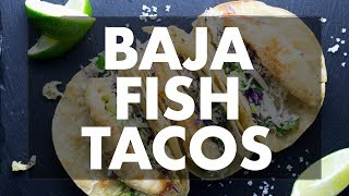 How To Make Baja Fish Tacos And Black Bean Fritters