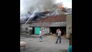 Pożar obory w Lipinie