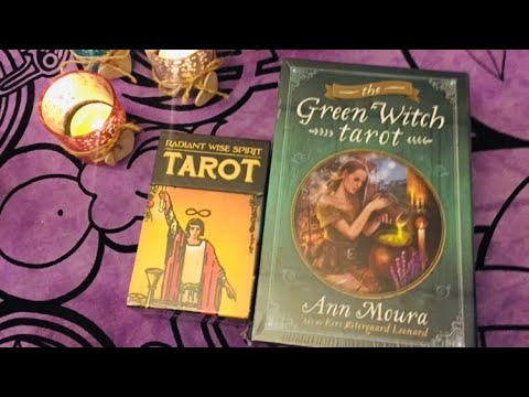 Новинки Таро/ Распаковка колод/ Green Witch Tarot / Radiant Wise Spirit /