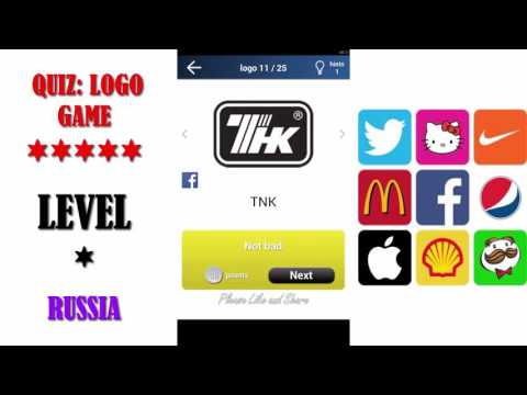Quiz: Logo Game Russia - All Answers - Walkthrough ( By Lemmings at work )