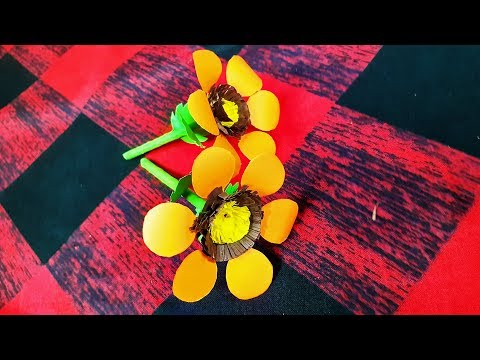 How To Make Very Easy Beautiful Yellow Paper Flower - DIY Paper Craft l 2020