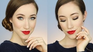 CLASSIC HOLLYWOOD GLAM PROM MAKEUP TUTORIAL | ALLIE G BEAUTY
