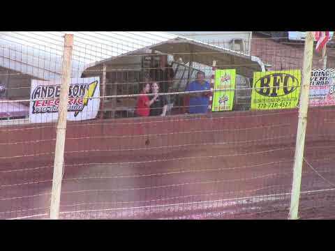 Winder Barrow Speedway Abby & Bailey Sargent Sing National Athem