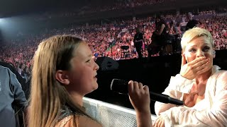 12-Year-Old Superfan Wows P!nk During Vancouver Concert