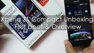 Xperia Z1 Compact Unboxing First Boot & Hands on Overview