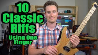 10 Classic Riffs! Only One Finger Needed! ACDC, John Mayer, Muse, Stevie Wonder, James Blunt
