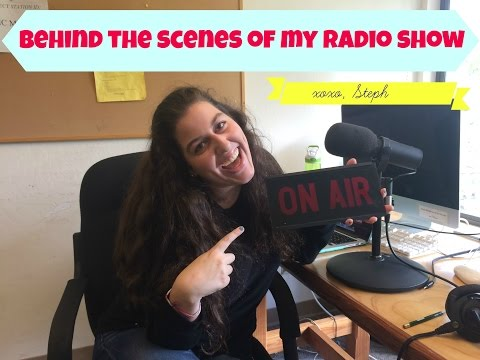 Behind the Scenes of a College Radio Show!