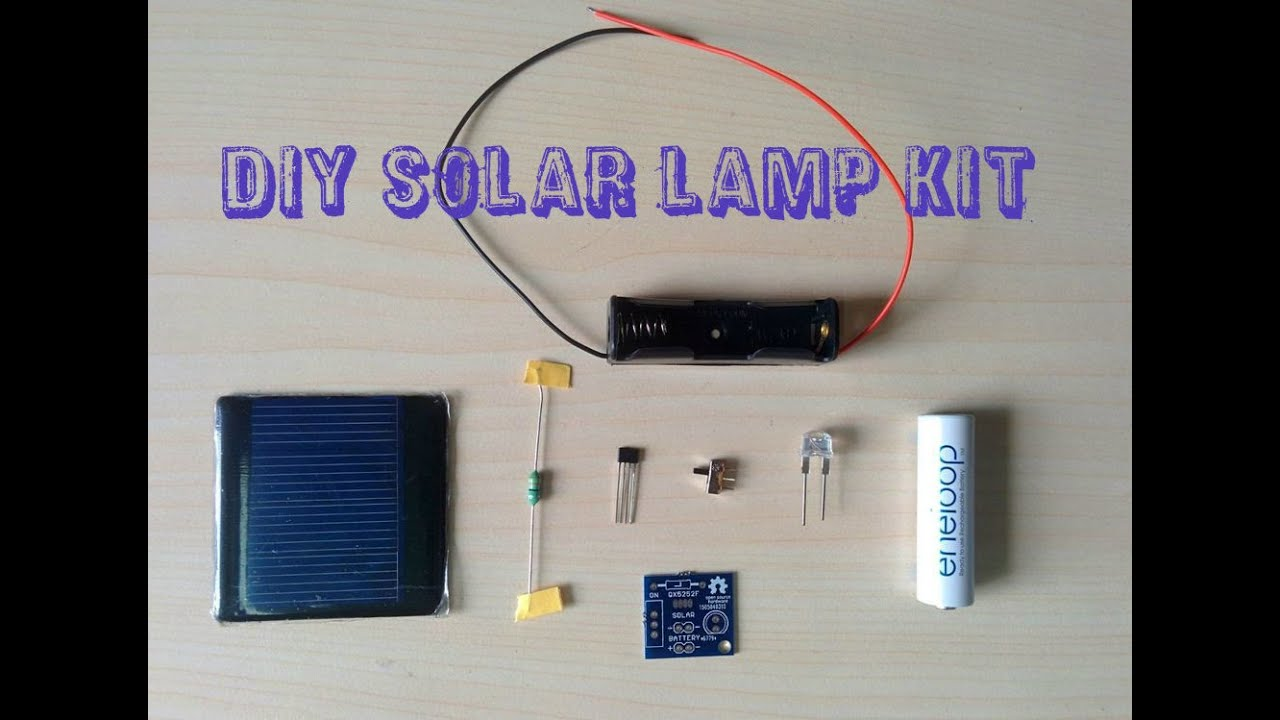 diy solar lamp kit solarlamp steam education kit [ 1280 x 720 Pixel ]