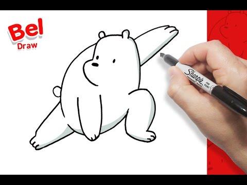رسم قطبي بالخطوات الدببة الثلاتة تعلم الرسم Youtube