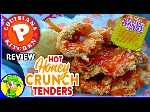 Popeyes® | Hot Honey Crunch Tenders Review! ⚜🔥🐔