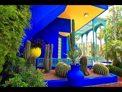jardin majorelle majorelle garden youtube. Black Bedroom Furniture Sets. Home Design Ideas