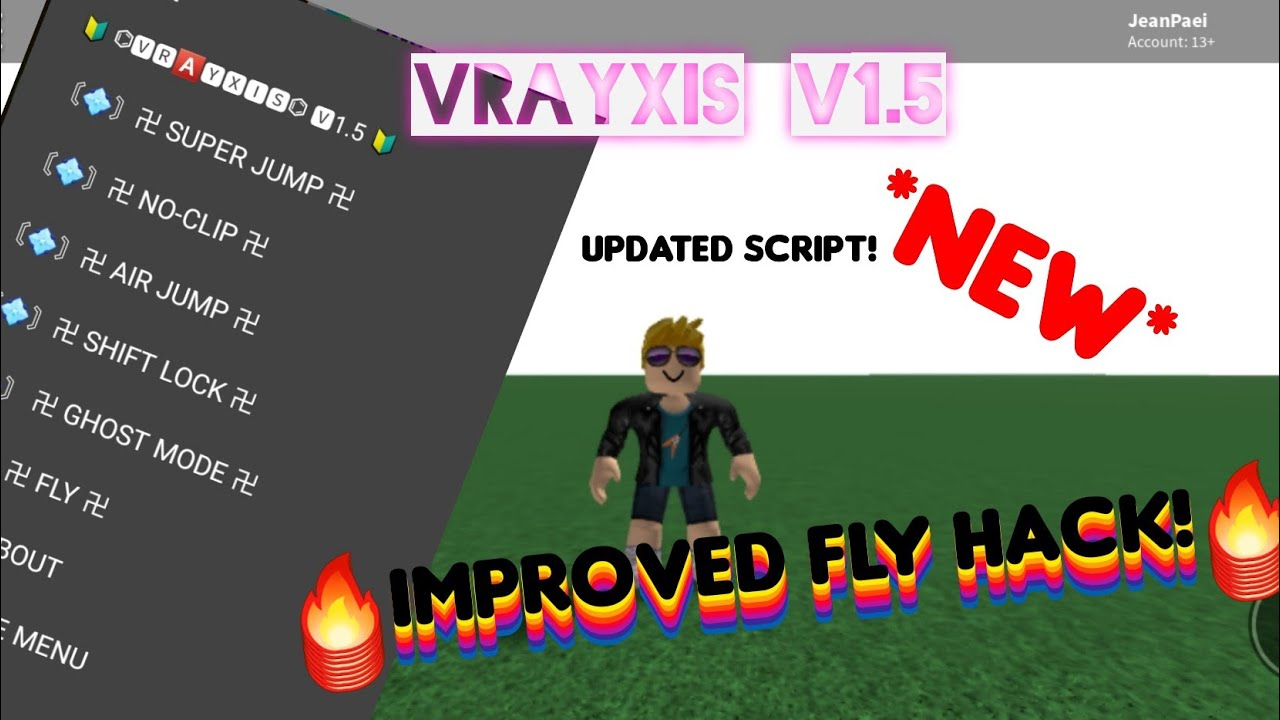Roblox New Improved Fly Hack Script Roblox Exploit Mobile Game