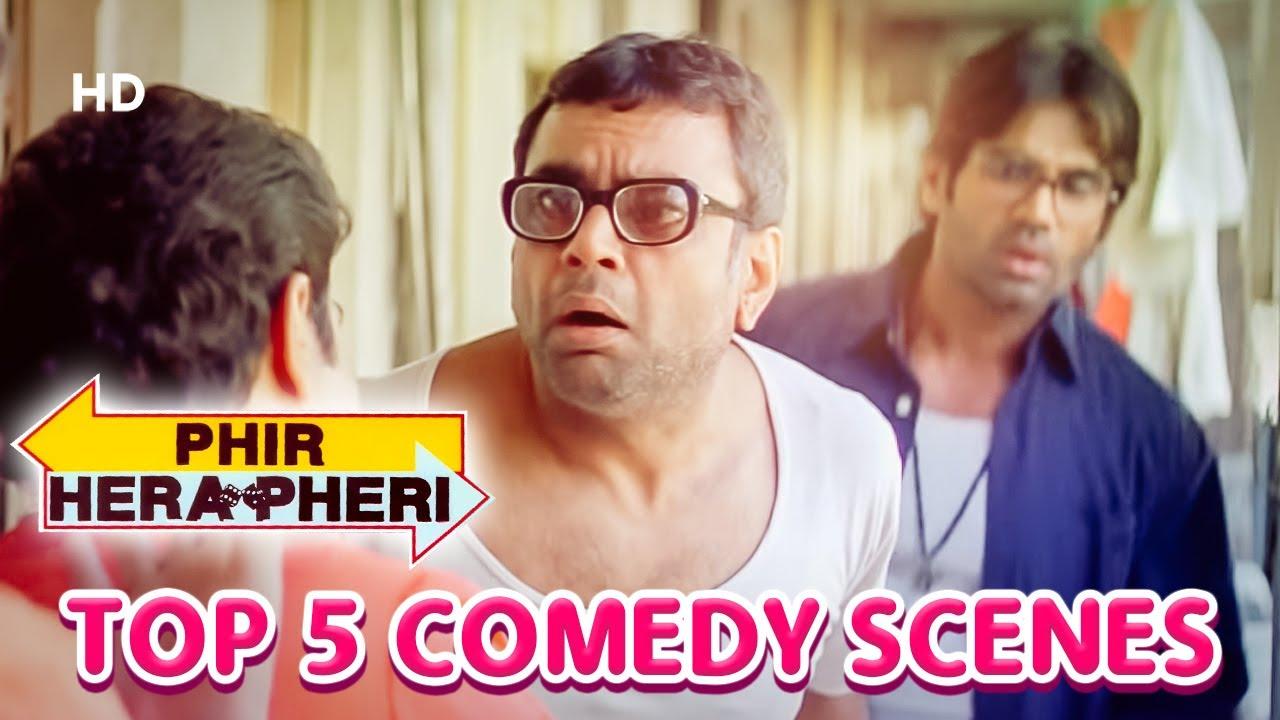Top 5 Comedy Scenes | Phir Hera Pheri - Hilarious Comedy Scenes - Paresh Rawal | Akshay Kumar