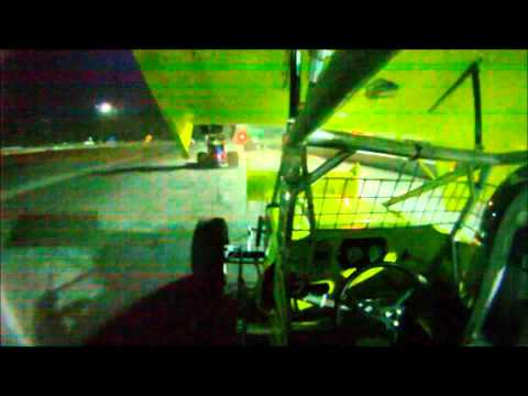 Clay Dow In Car SCoNE Heat + Feature at Bear Ridge Speedway 7-7-2012