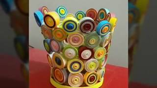 How To Make Flower Vase With Quilling Paper    Diy Handmade Vase