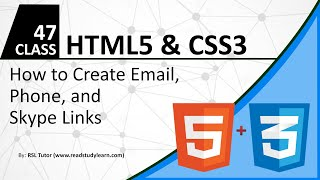 How to create Email Link in HTML - How to Create Skype Link in HTML - How to Create Phone link