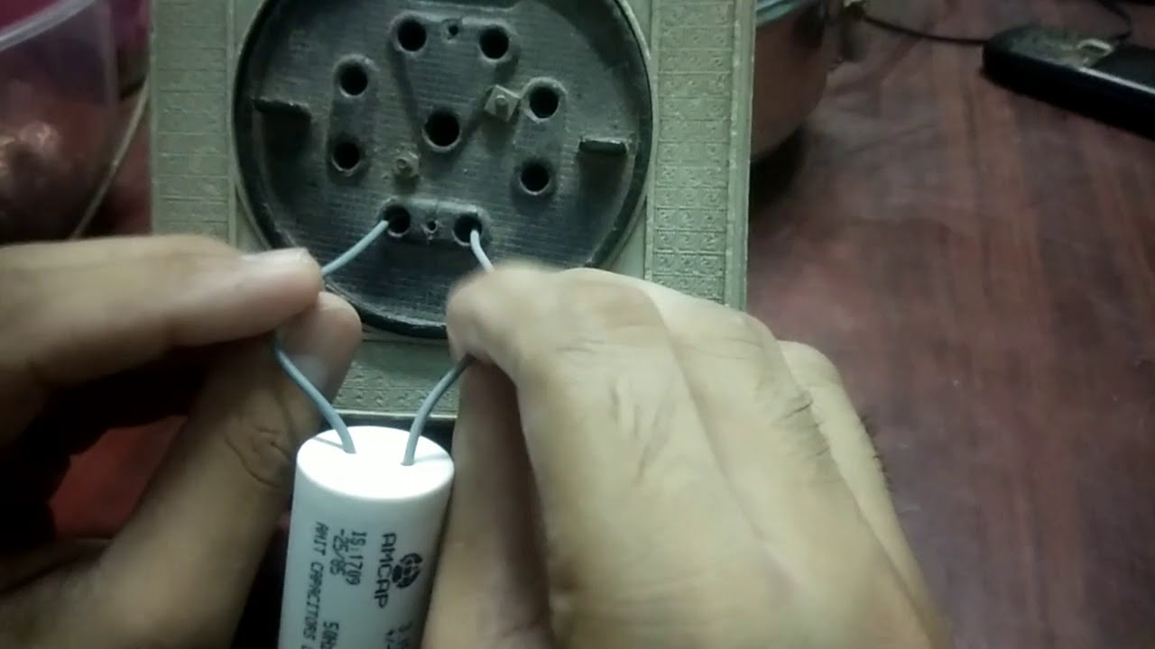 How to check capacitor ceiling fan table fan motor etc youtube how to check capacitor ceiling fan table fan motor etc greentooth Images
