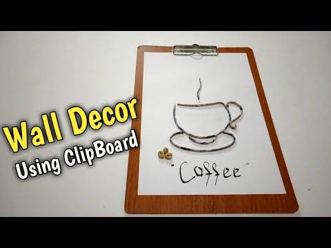 HIASAN DINDING DARI KORAN & CLIPBOARD   PAPER QUILLING WALL DECOR