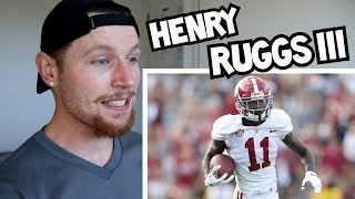 Rugby Player Reacts to HENRY RUGGS III & Why He Is The Best WR In The 2020 Draft Class!