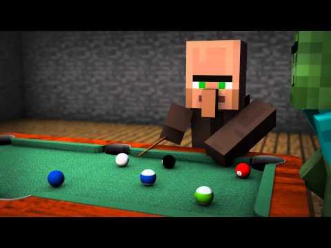 Minecraft - Pool Billard 3D-Animation