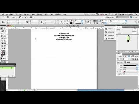 Making Letterhead in InDesign : InDesign & Graphics