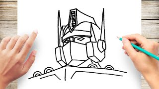How to Draw Optimus Prime Step by Step for Kids