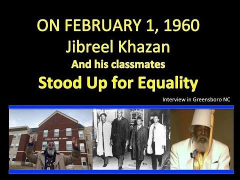Jibreel Khazan -PT #1  GREENSBORO 4 SIT- IN on SPOT TV -