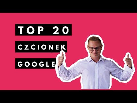 Czcionki Google TOP 20 Na Twoją Stronę Internetową