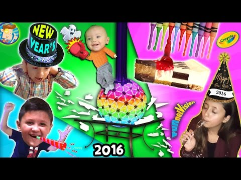 A Shattering New Years / Melted Crayola Crayon Art / Too Much Cheesecake Man! (FUNnel Vision Vlog)