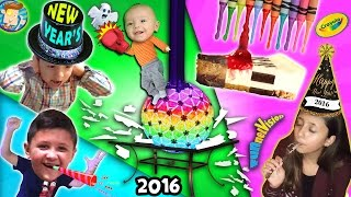 A Shattering New Years / Melted Crayola Crayon Art / Too Much Cheesecake Man! (FUNnel Vision Vlog) thumbnail