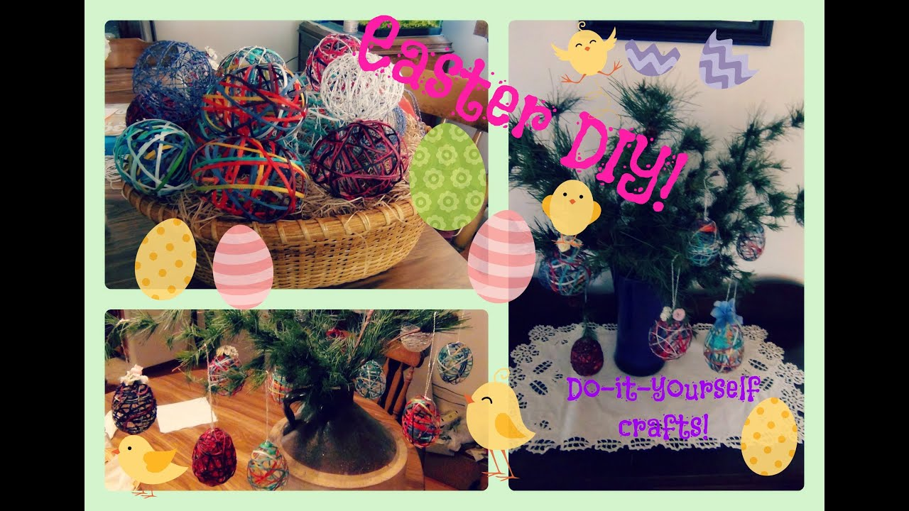 Easter Diy Make Your Own Egg Decorations Easter Tree