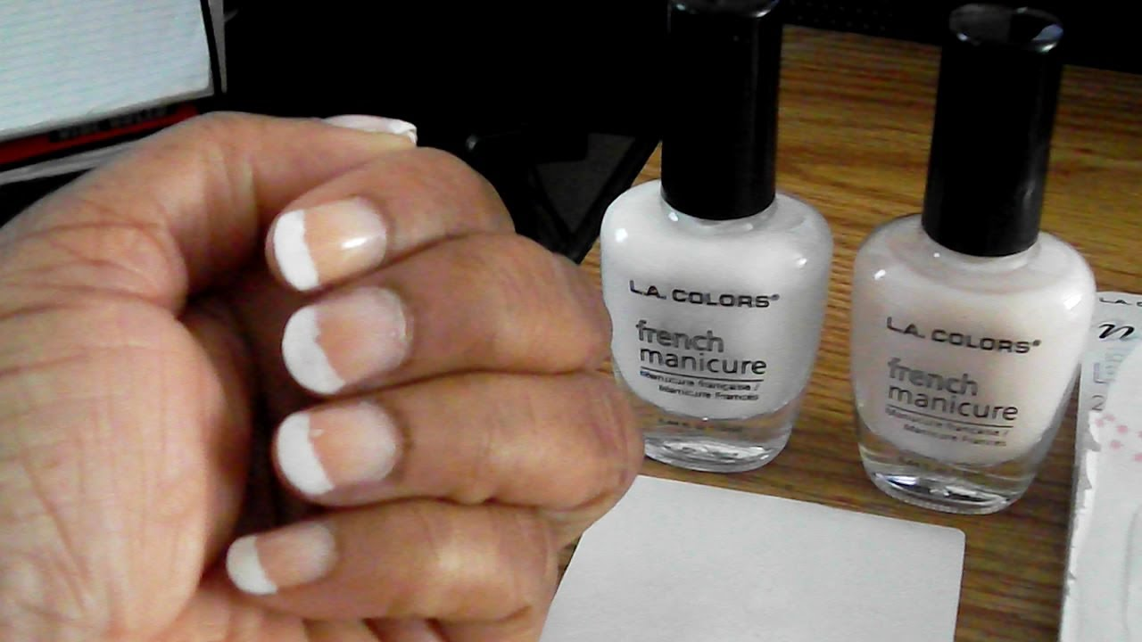 LA COLORS FRENCH MANICURE KIT - YouTube