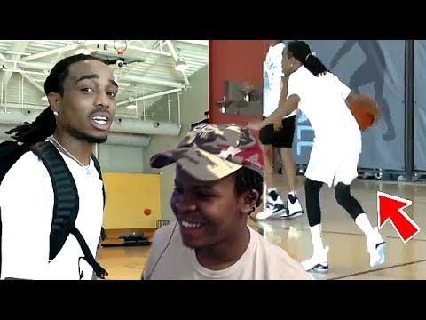 QUAVO FROM THE MIGOS IS A DRIBBLE GOD IRL BASKETBALL