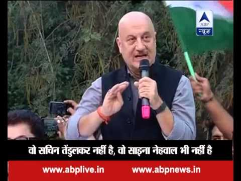 Anupam Kher in JNU: When the actor raised slogans of 'Bharat Maata Ki Jai', 'Jai Hind'