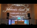 DJ VLOG #66: Julianna's Sweet 16 at The American Hotel (Freehold, NJ)