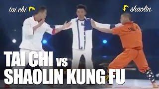 Repeat youtube video Tai Chi vs Kung Fu Shaolin
