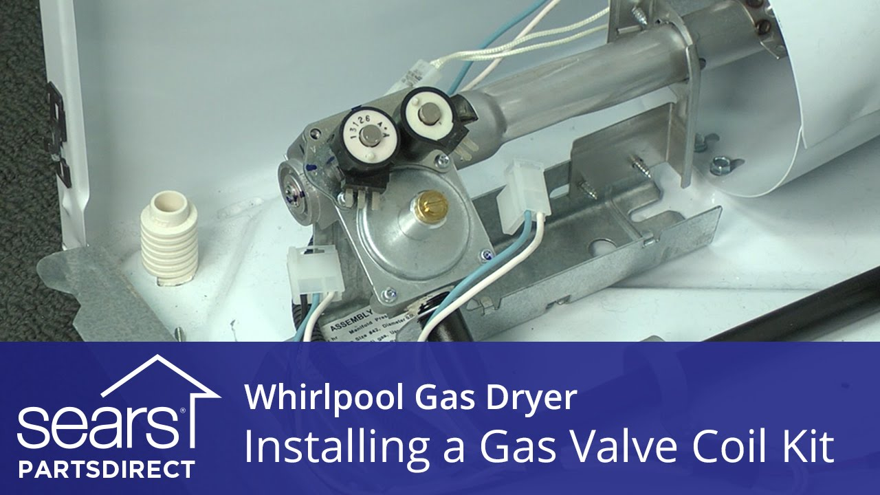 how to install a whirlpool dryer gas valve coil kit [ 1280 x 720 Pixel ]