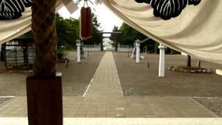 Yokobue (flute) and Taiko (drum) in Japanese Shinto Shrine