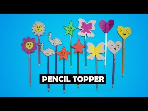 DIY Pencil Toppers | How To Make Simple Easy | Awesome Art And Crafts