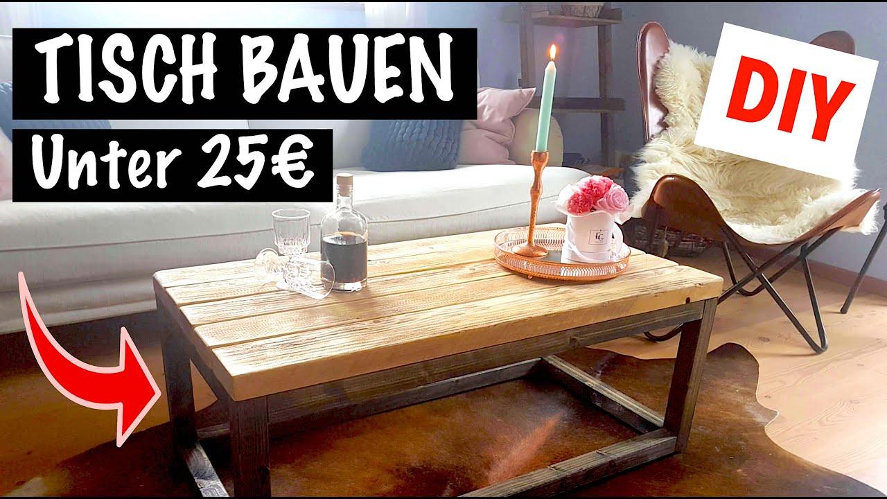 Tisch Aus Holz Selber Bauen Einfach Schnell Youtube