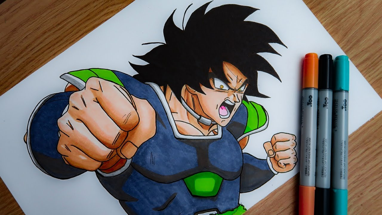 Comment Dessiner Broly Tuto Youtube