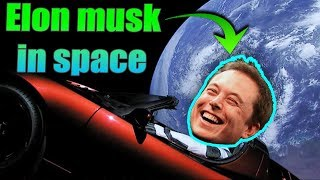 funny reaction of elon Musk by sending his tesla car to mars