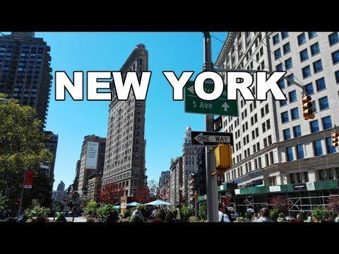 Midtown Manhattan, New York City, USA   Street Walk